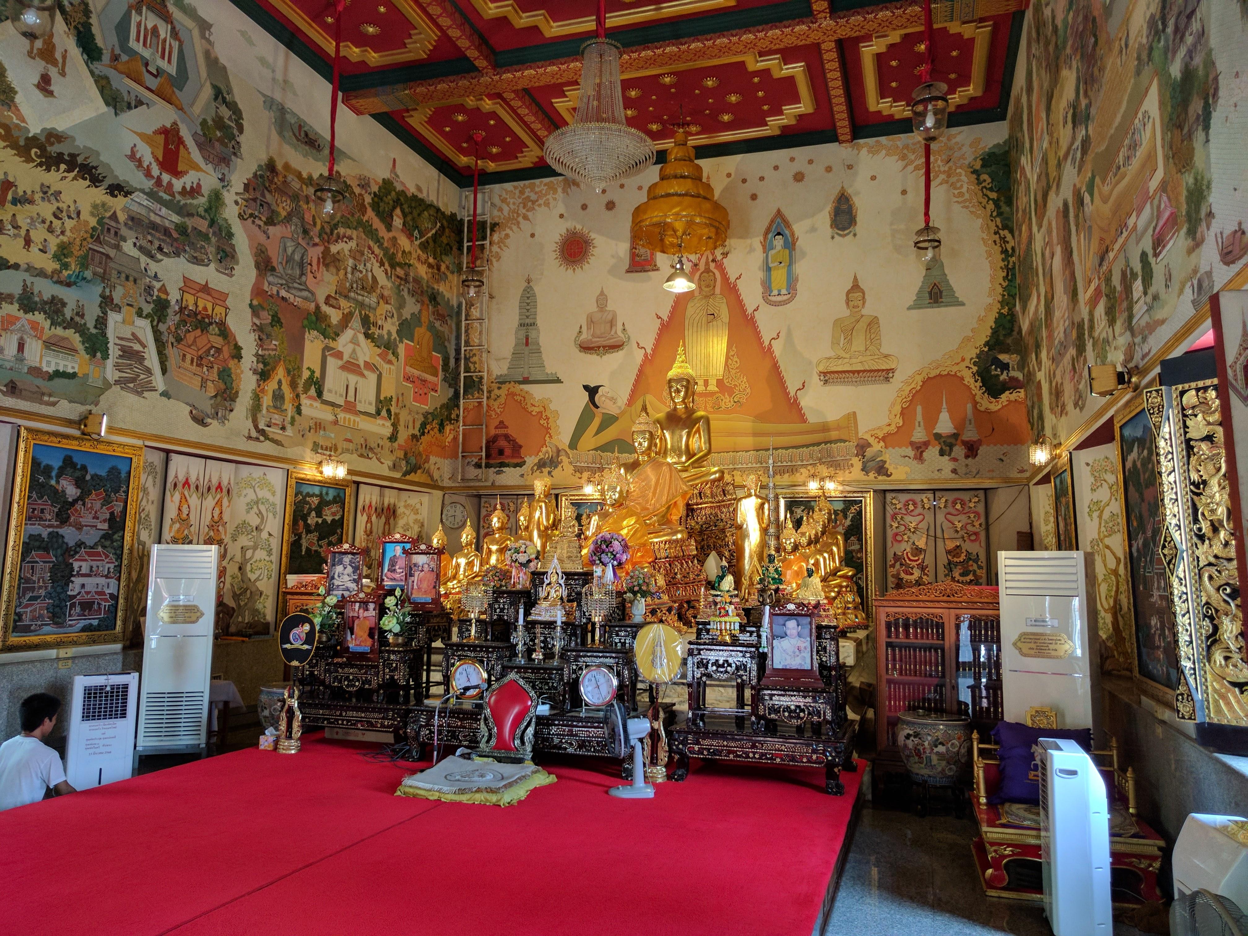 Bankok temple boudha géant