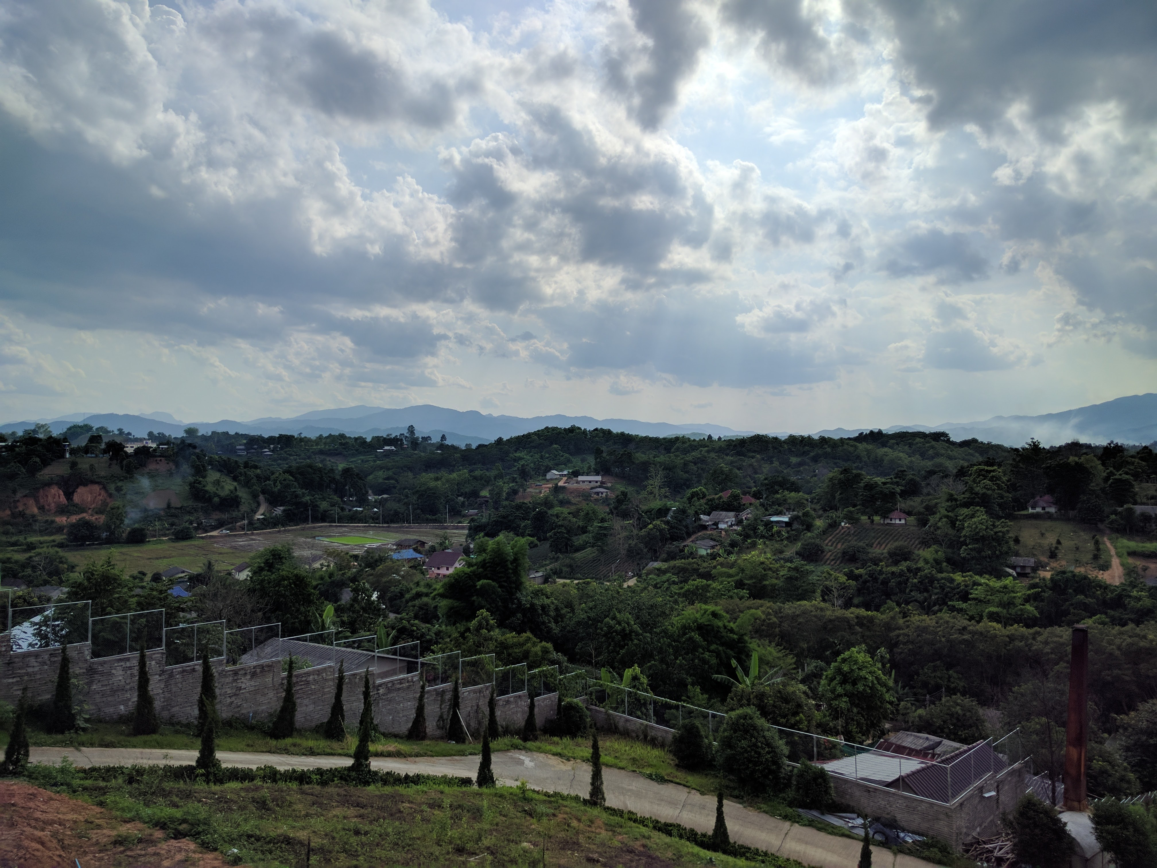 paysage Wat Huay Plakang