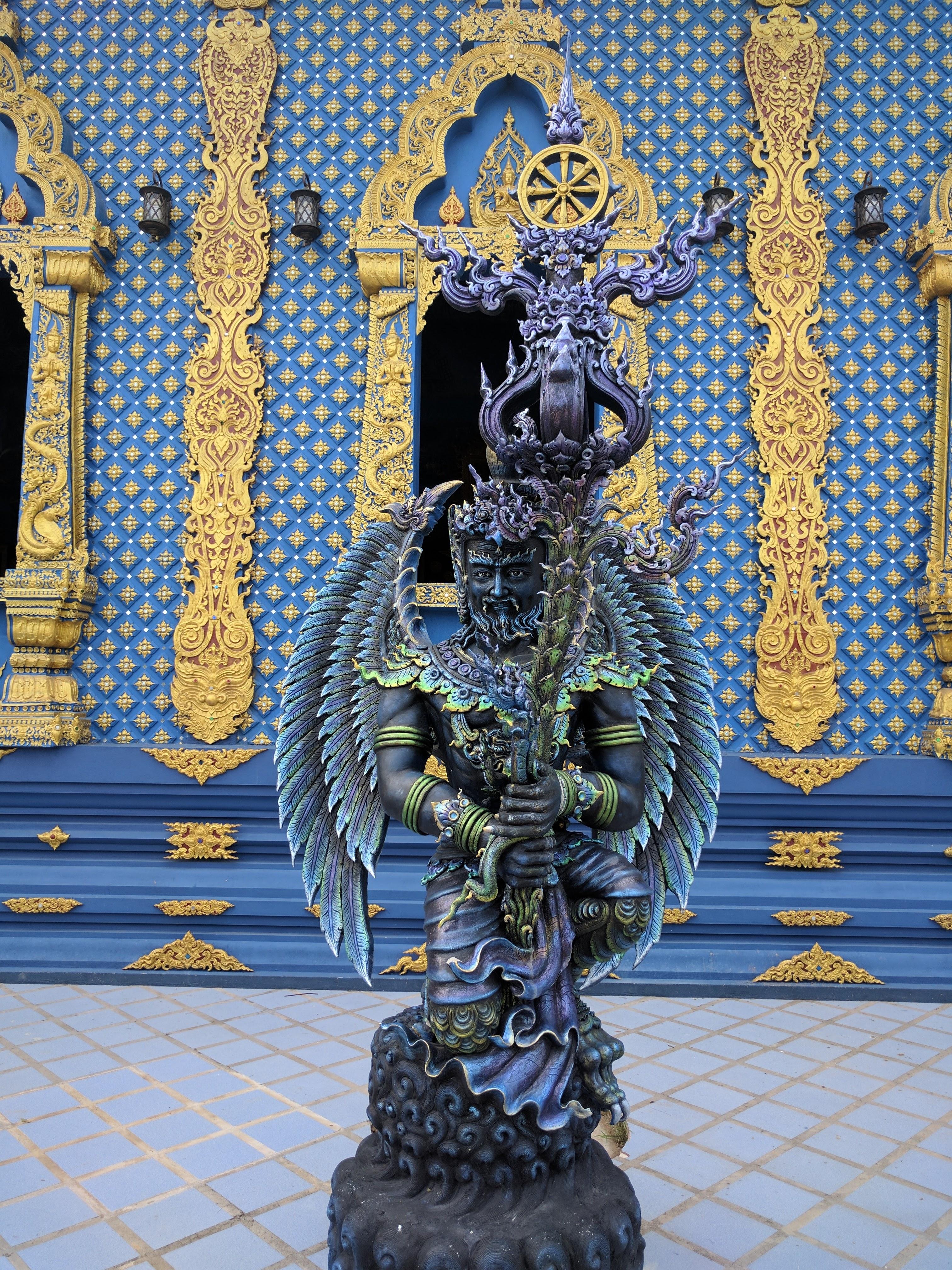 Blue temple statue 2