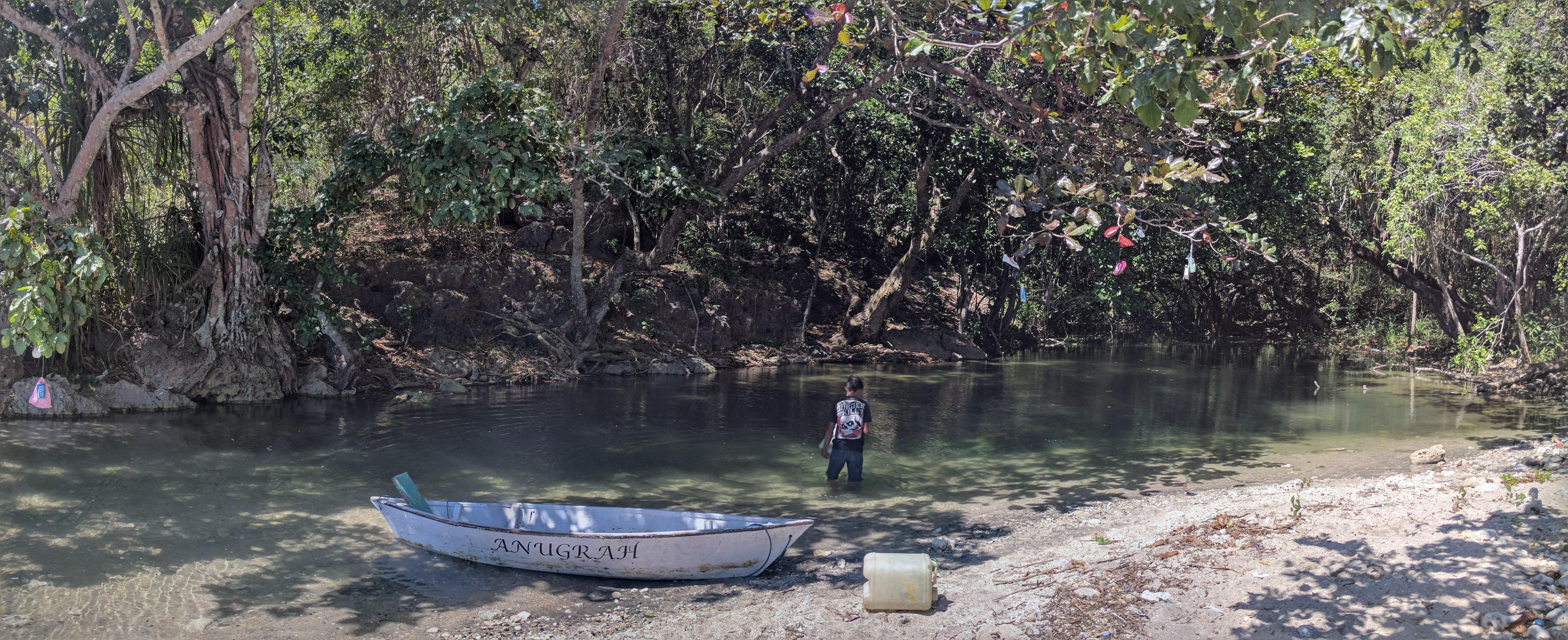 Entrée riviere cascade croisire