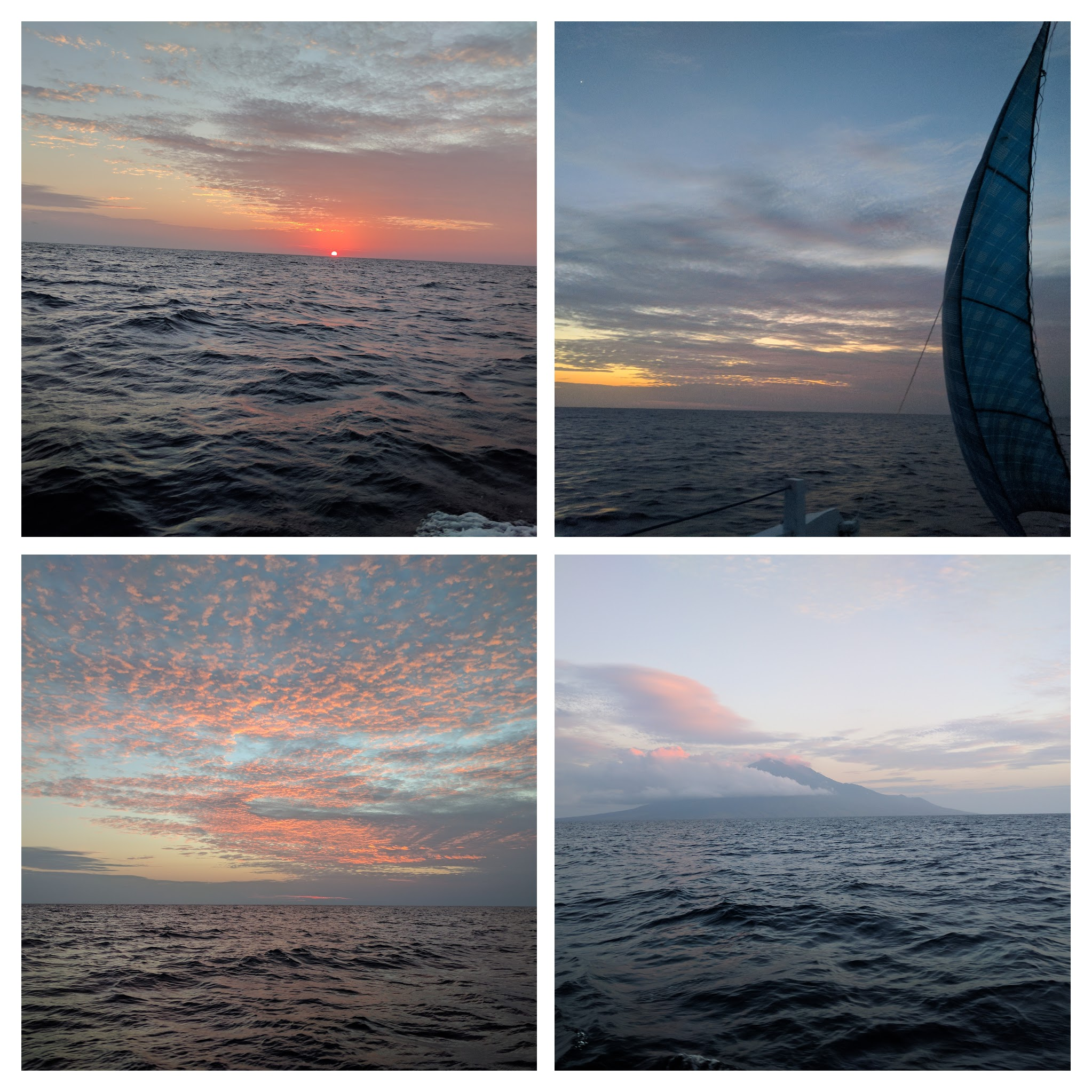 Lever soleil croisiere collage