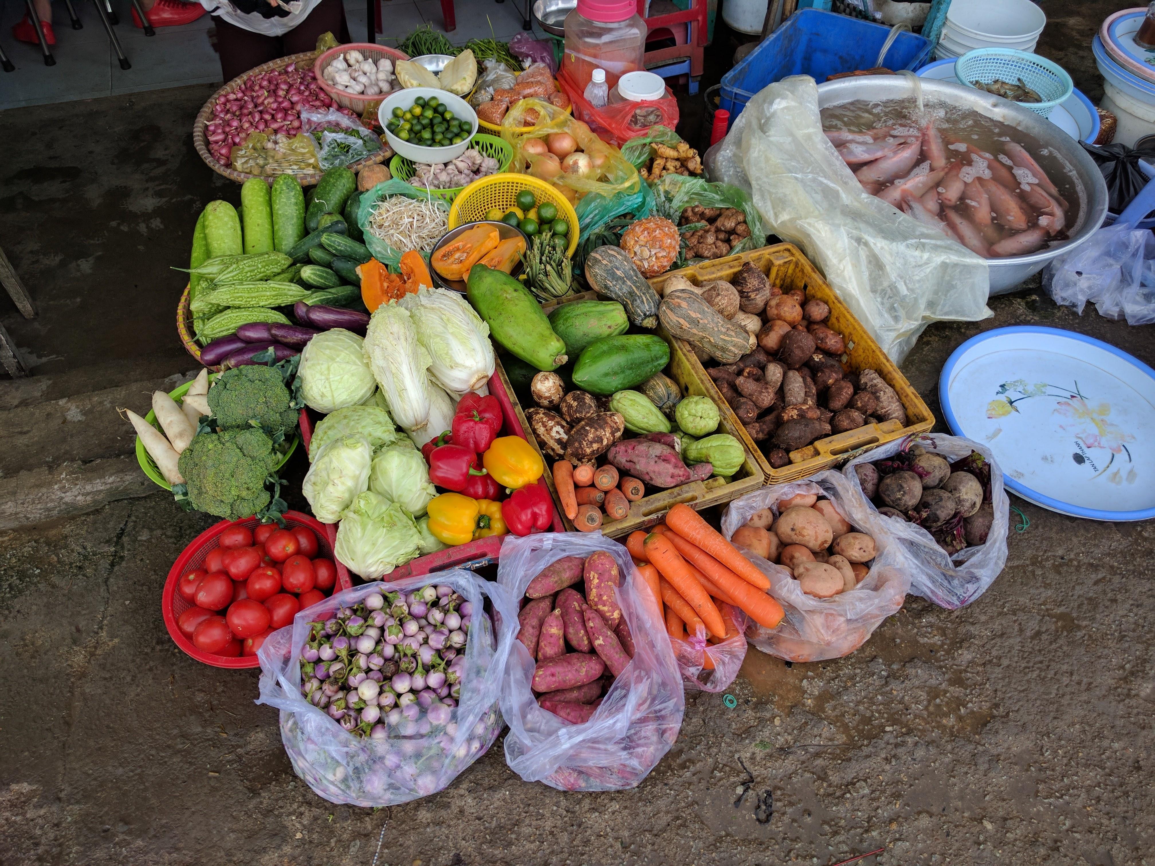 Da lat marché légumes