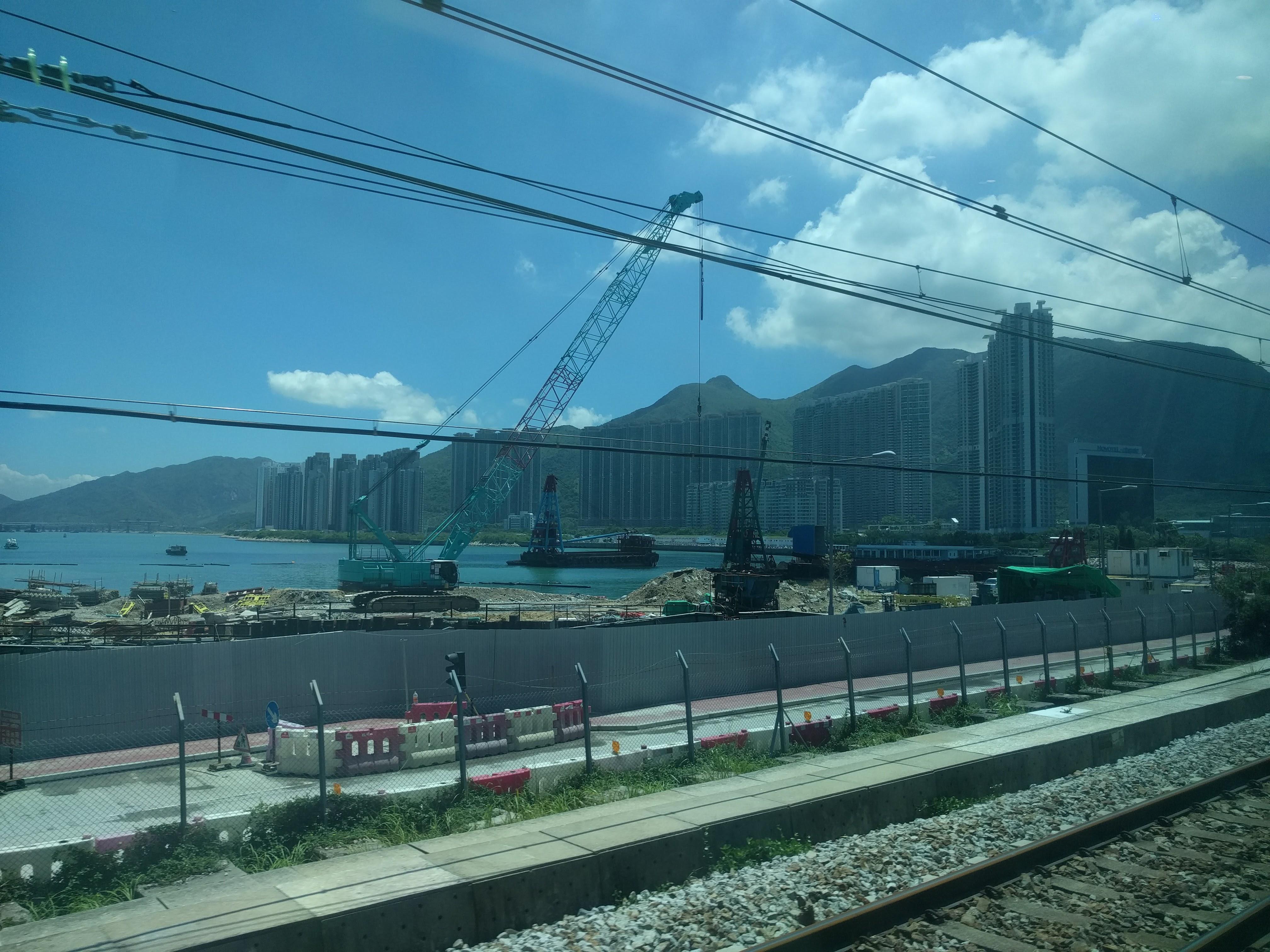Arrivée train Hong-Kong