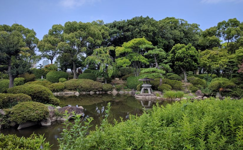 Jardin Osaka castle