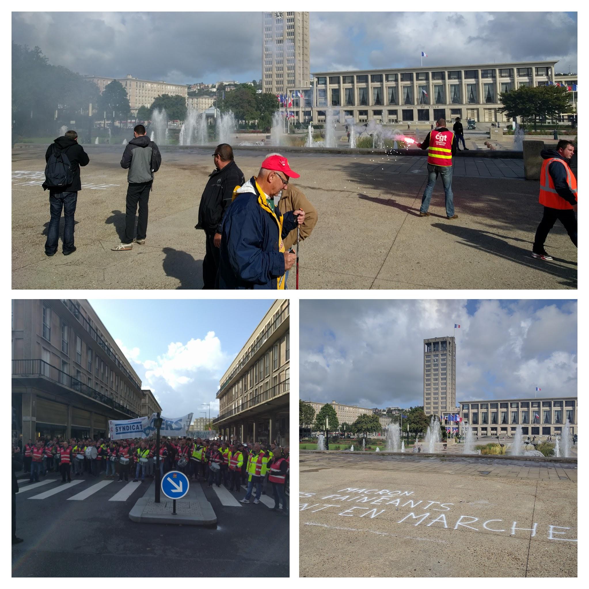 Manifestation le havre 12 septembre 2017
